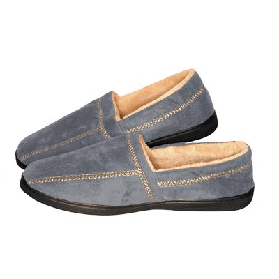 Suede Fleece Slipper Size: Large