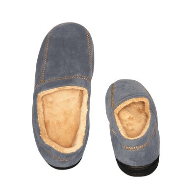 Suede Fleece Slipper Size: Medium
