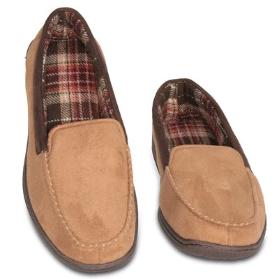 Suede Memory Foam Slipper Size: Medium - Size 9
