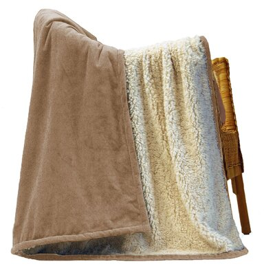Urban Home Faux Alpaca Wool and Micro Fur Throw