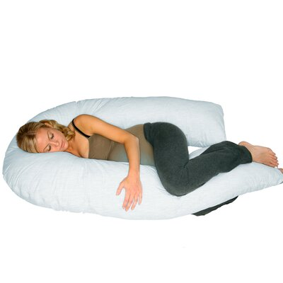U Shaped Body Pillow Protector Color: White