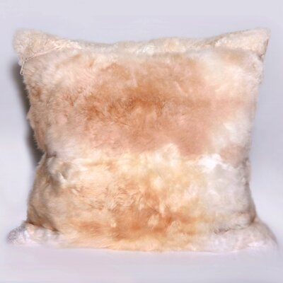 Alpaca Fur Natural/Organic Throw Pillow Color: Beige