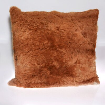 Alpaca Fur Natural/Organic Throw Pillow Color: Dark Brown