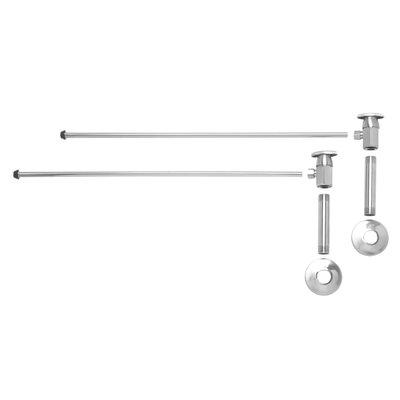 Oval Handle Bathroom Angle Supply Kit Finish: Matte Black