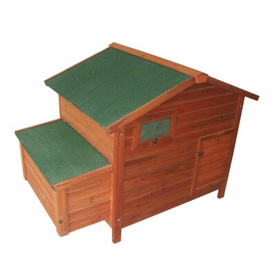 Pawhut Deluxe Large Chicken Coop with 2 Roosting Poles