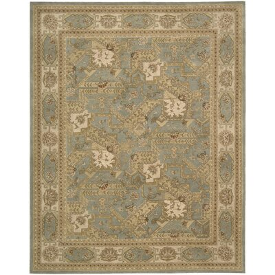 Heritage Hall Blue/Beige Abstract Area Rug Rug Size: Rectangle 86 x 116