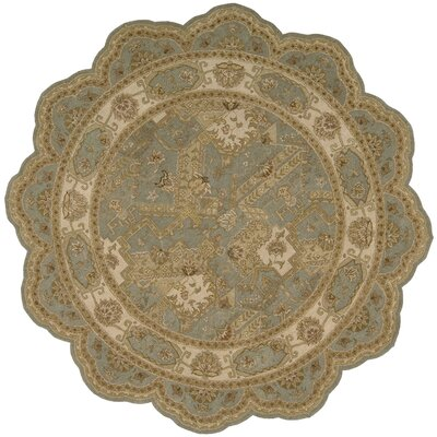 Heritage Hall Blue/Beige Abstract Area Rug Rug Size: Novelty 6 x 6