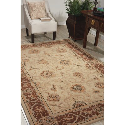 Heritage Hall Hand-Tufted Mist Area Rug Rug Size: Rectangle 56 x 86