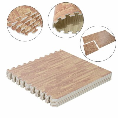 Jetton Interlocking Puzzle Foam Floor Tile Mats Wood Color: Dark Wood