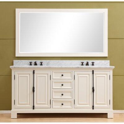 Freemont 60 Double Bathroom Vanity Set Base Finish: White