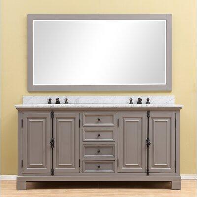 Freemont 60 Double Bathroom Vanity Set Base Finish: Gray