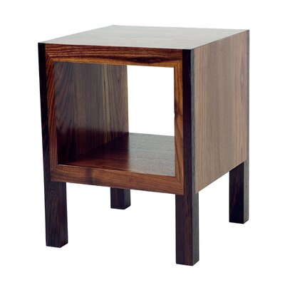 POP End Table Color: Body: Walnut / Legs: Wenge