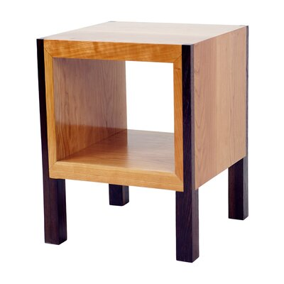 POP End Table Color: Body: Cherry / Legs: Wenge