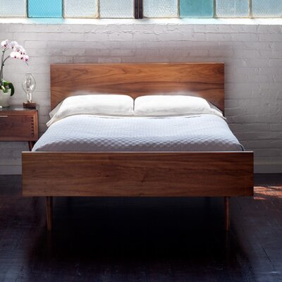 May Platform Bed Size: Full, Color: Walnut