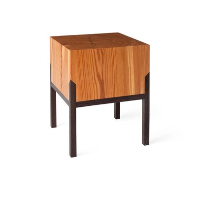PW Stool Finish: Body: Heart Pine / Legs: Wenge
