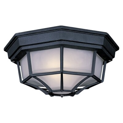 The Great Outdoors 1-Light Flush Mount Size: Large, Finish: Black
