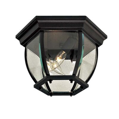 Rockwood 3-Light Flush Mount Finish: Black