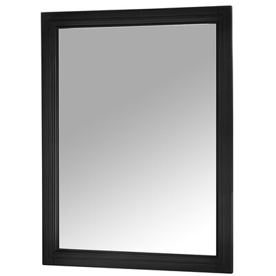 Auguste Bathroom Vanity Mirror Finish: Black
