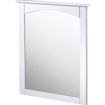 "Columbia Bathroom Mirror Size: 25"", Finish: White"