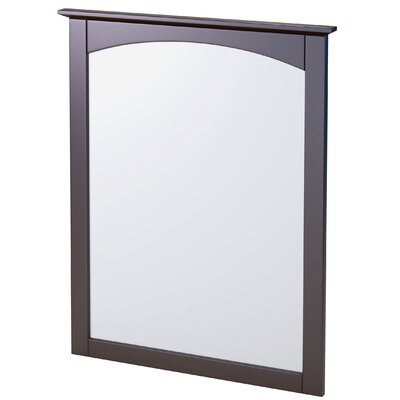 "Columbia Bathroom Mirror Size: 21"", Finish: Black"