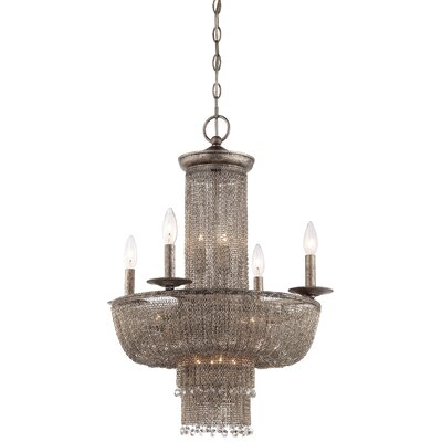 Shimmering Falls 15-Light Crystal Chandelier