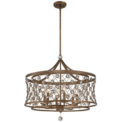 Vel Catena 6-Light Drum Pendant