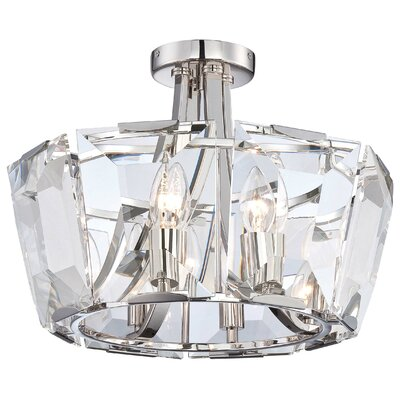 Castle Aurora 8-Light Semi Flush Mount