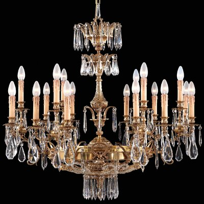 Vintage 18-Light Crystal Chandelier