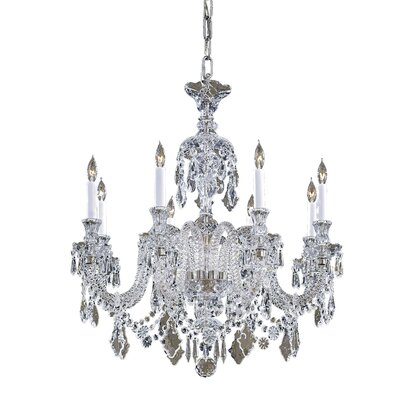 Vintage 8-Light Crystal Chandelier