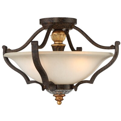 Chateau Nobles 3-Light Semi Flush Mount