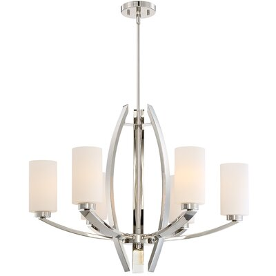 Glimrende 6-Light Shaded Chandelier