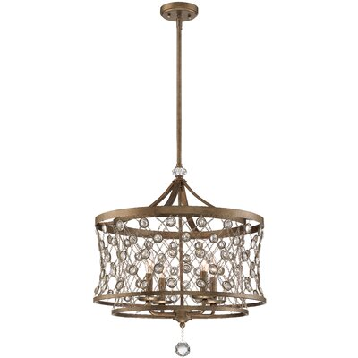 Vel Catena 4-Light Drum Pendant