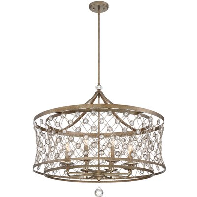 Vel Catena 8-Light Drum Pendant