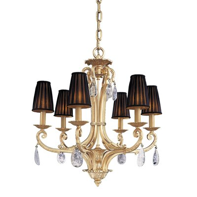 Traditional 6-Light Shaded Chandelier
