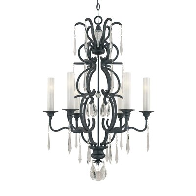 Castellina 6-Light Crystal Chandelier