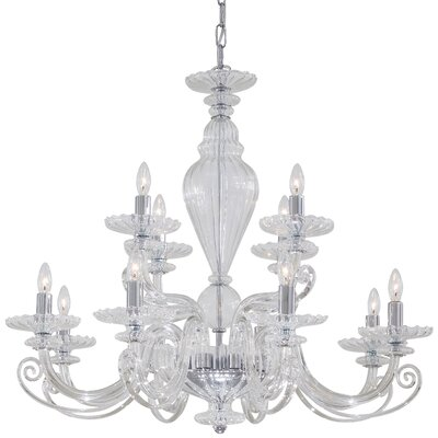 12-Light Candle-Style Chandelier