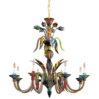 Camer 8-Light Candle-Style Chandelier