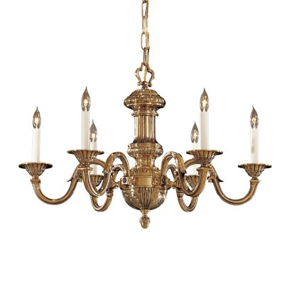 Vintage 6-Light Candle-Style Chandelier