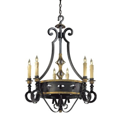 Montparnasse 6-Light Candle-Style Chandelier