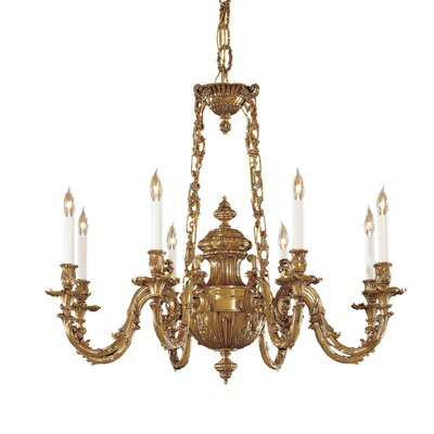 Vintage 8-Light Candle-Style Chandelier