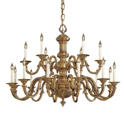 Vintage 18-Light Candle-Style Chandelier
