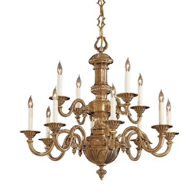 Vintage 12-Light Candle-Style Chandelier