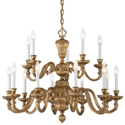 Casoria 15-Light Candle-Style Chandelier Finish: Vintage English Patina