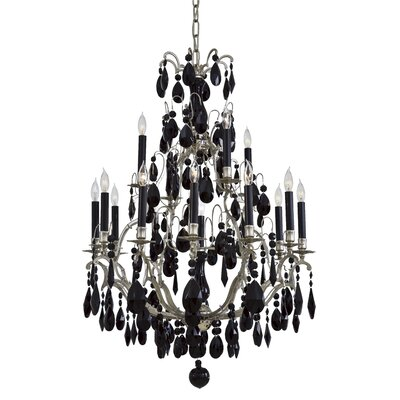 Vintage 16-Light Crystal Chandelier