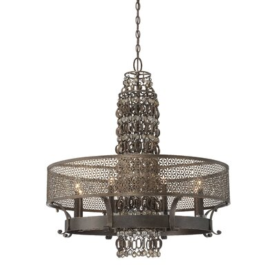Ajourer 8-Light Drum Chandelier