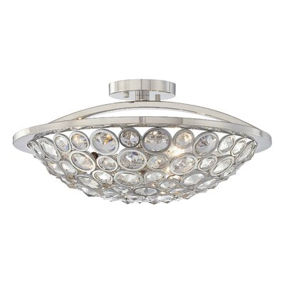 Magique 3-Light Semi Flush Mount