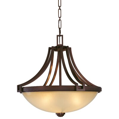 Underscore 3-Light Bowl Pendant