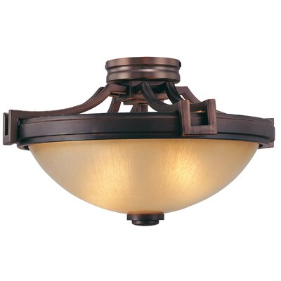 Underscore 2-Light Semi Flush Mount