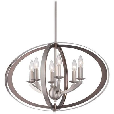 Ironsights 6-Light Candle-Style Chandelier