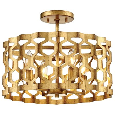 Coronade 4-Light Semi Flush Mount